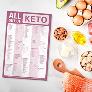 Knock Knock All Out Of Pad Keto Grocery List Note Pad, 6 x 9-inches