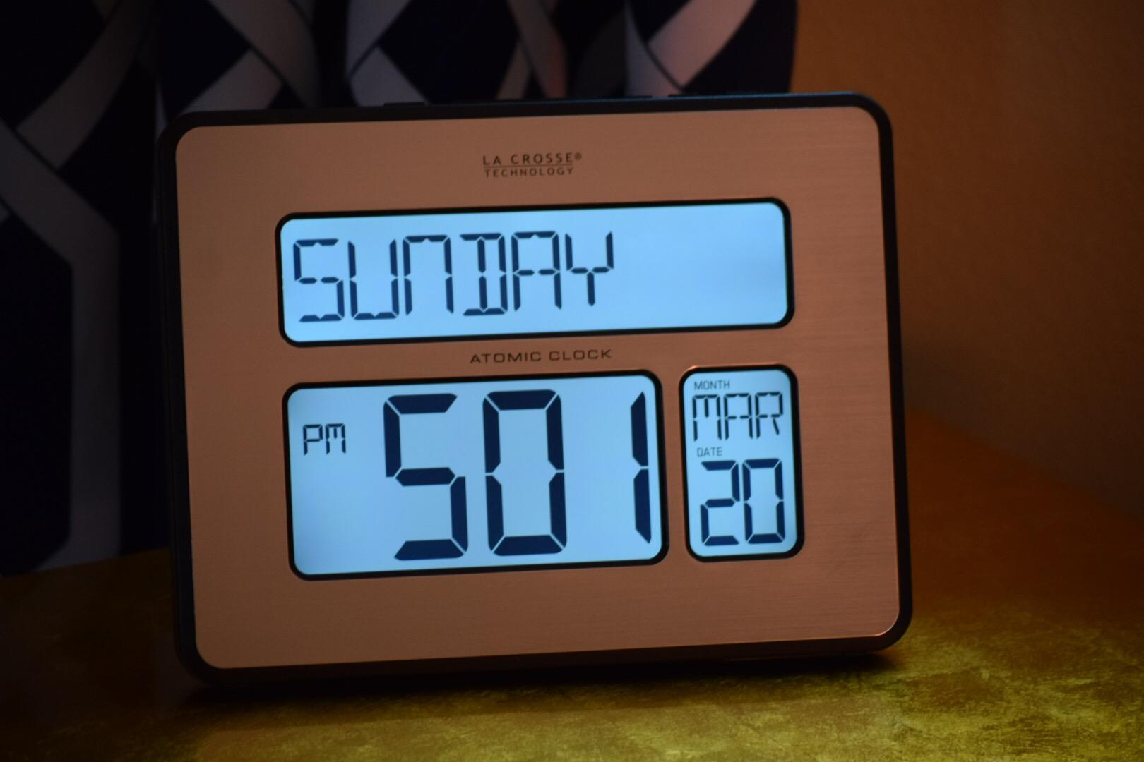 Digital Atomic Clock : Amazon la crosse technology bl int backlight