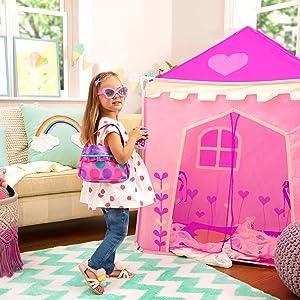 Play circle battat princess purse handbag pink accessories phone makeup pretend play sunglasses keys