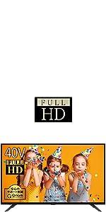 山善 40V型 2K フルハイビジョン 液晶テレビ (地上・BS・110度CS) (外付けHDD録画対応) (ダブルチューナー) (裏番組録画対応) 日本設計エンジン搭載 QRT-40W2K