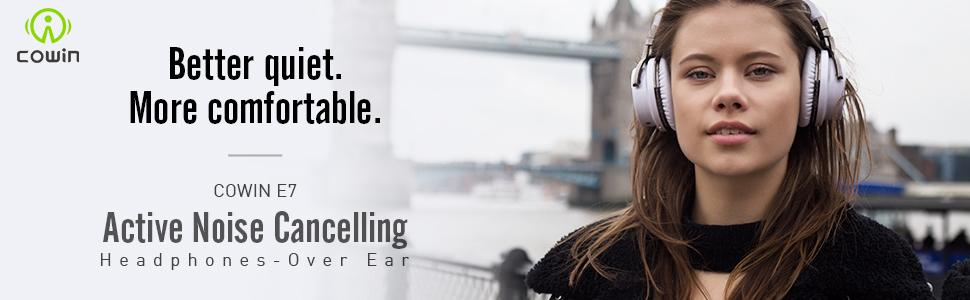 COWIN E7 ANC Wireless Headphones Over Ear
