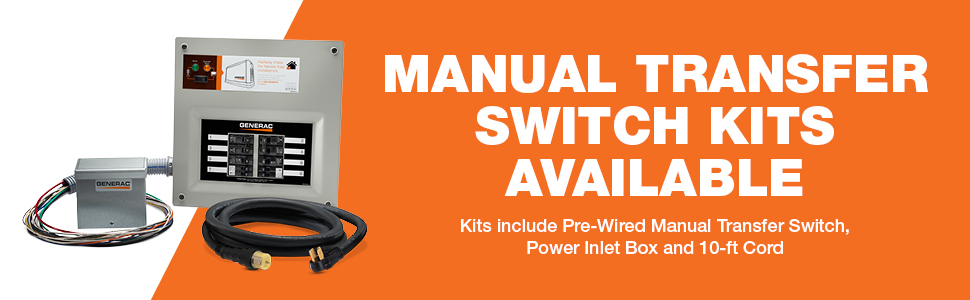 kits, transfer switch, manual, power box