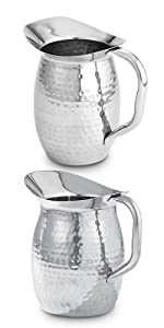 Hammered Stainless Steel 2-Quart Pitchers