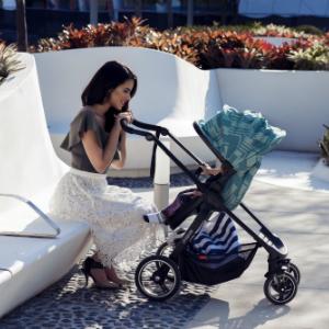 parent facing single compact stroller