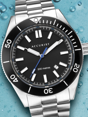 Accurist Signature Mens Watches Watch Sapphire Crystal Scratch Resistant