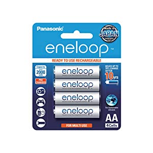 Rechargeable eneloop AA Batteries