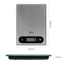 TM Electron TMPBS025 báscula de Cocina Digital compacta en Acero Inoxidable Ideal para repostería y Alimentos