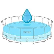 piscina sobre suelo, piscina circular, piscina Intex, piscina desmontable y estructura metálica