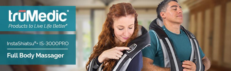 InstaShiatsu+ Neck, Shoulder & Full Body Massager With Heat