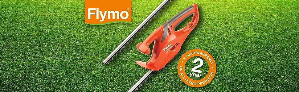 Flymo EasiCut 520 Electric Hedge Trimmer, 500W, Cutting Blade 50cm