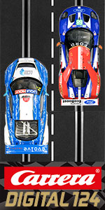 Carrera Digital 124 Slot Car Racing Race Track Set System 1:24 Scale Track and 1:32 Scale Cars