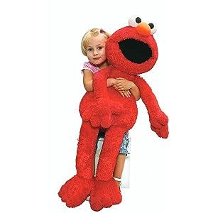 Amazon Com Gund Sesame Street Jumbo Elmo Stuffed Animal 41 Inches