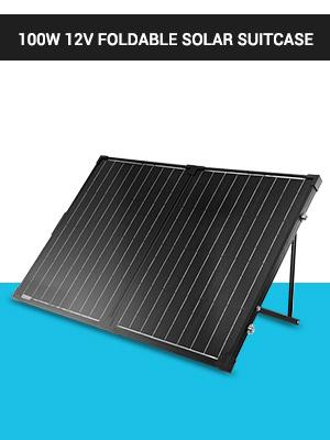 Oficinas M/óviles Sistema de 12V Ferias Comerciales M/ítines de Autocaravanas Negro SARONIC Panel Solar Plegable Port/átil de 100W 12V con un Controlador de Carga Solar de 10A para Caravanas