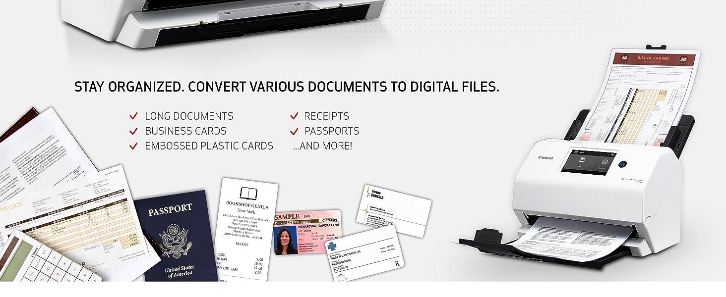 digital scanner canon scanner usb scanner document scanner with feeder