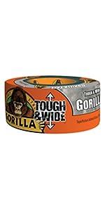 Gorilla Tough & Wide Silver Tape
