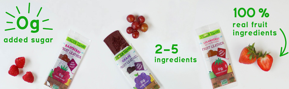 Stretch Island Fruit Co - Fruit Leather Strawberry -  Non-GMO Project Verified, vegan & gluten-free
