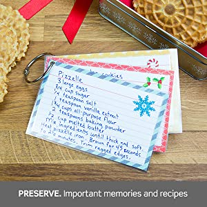 Preserve: Important memories and recipes.