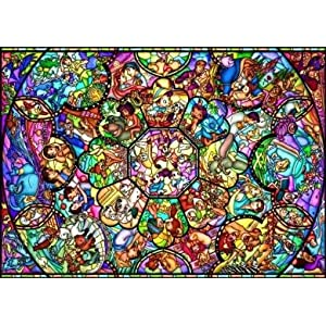 Disney All Stars Stained Art Jigsaw Puzzle