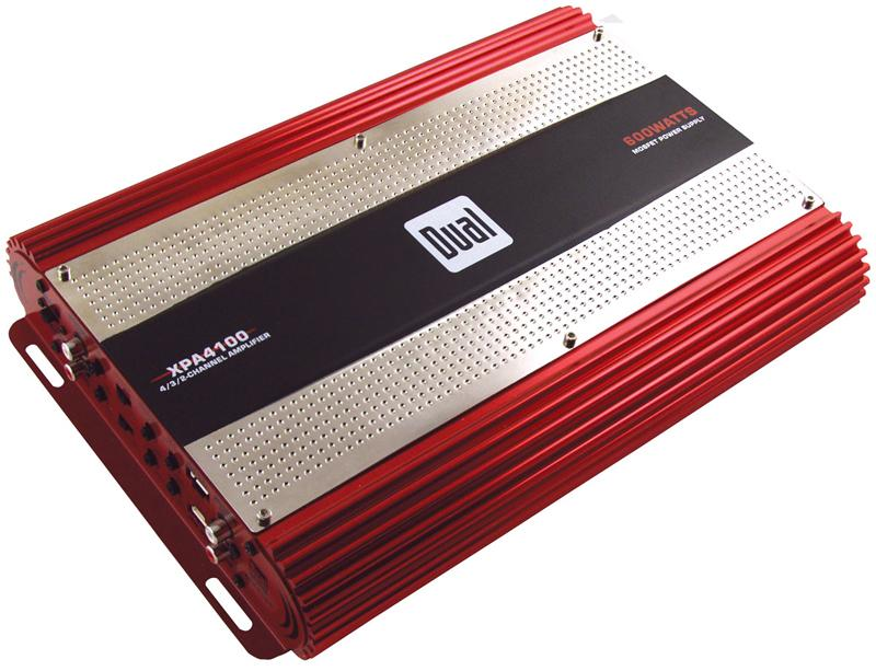 Dual XPE2700 400 watt max 2 channel car amplifier bridgeable with X-Over