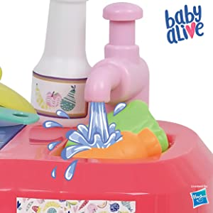 Amazon Com Baby Alive Doll Kitchen With 21 Assorted Play Pieces