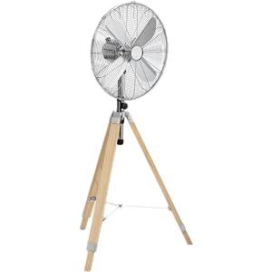 Tristar VE-5805 - Ventilador de pie, 45 cm, 60 W, Trípode de madera: Amazon.es: Bricolaje y herramientas