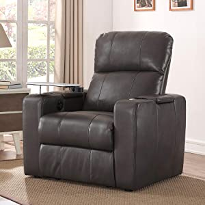Genial Larson Power Home Theatre Recliner Blanch Charcoal
