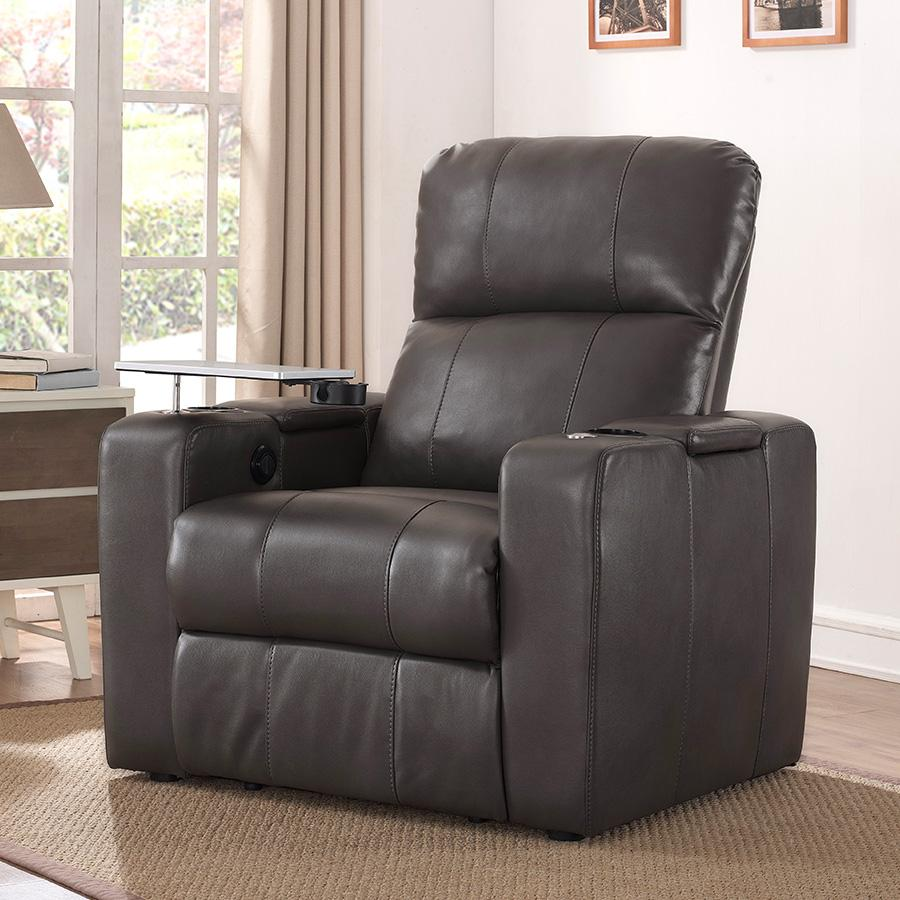 Larson Power Home Theatre Recliner Blanch Charcoal : recliner with tray - islam-shia.org