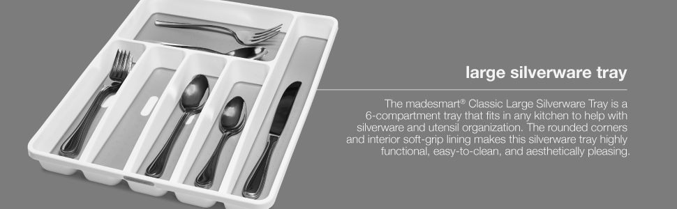 Amazon Com Madesmart Classic Large Silverware Tray