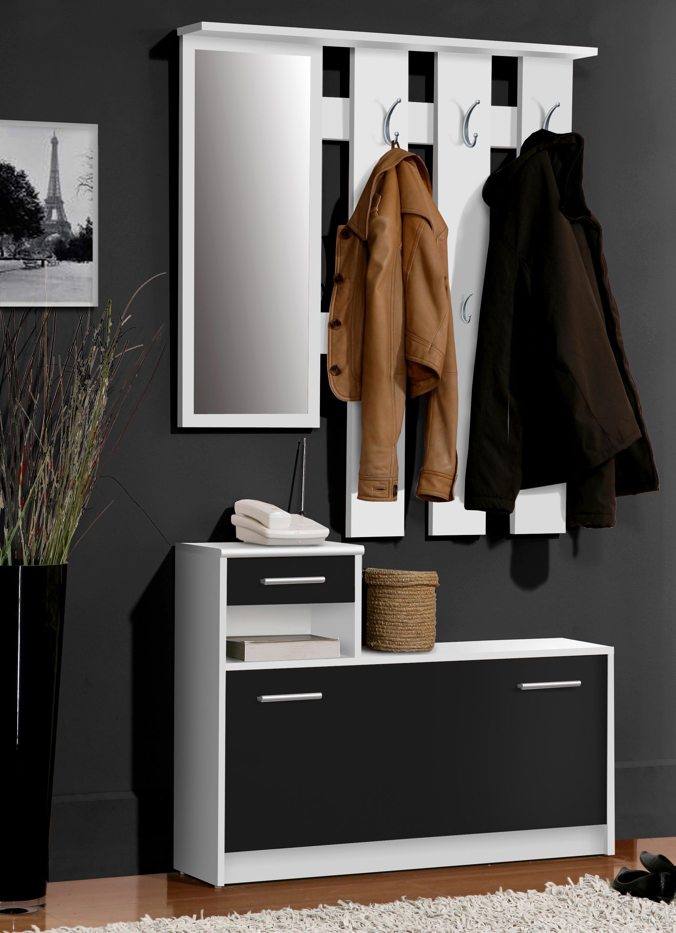 Newface foxi garderobe holz sandeiche 97 5 x 25 x 180 for Garderobe 98 cm