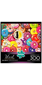 Coffee and Donuts - 300 Large Piece Jigsaw Puzzle