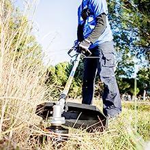 Hyundai, HY-HYMT5080, Kit multifuncional 4 en 1 jardineria, 1560 W, 0 V, Azul-blanco, 107x28x30 cm