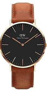 dw, daniel wellington, black durham, classic black, classic durham, american leather