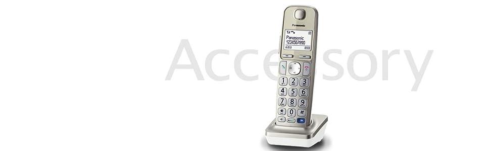 Panasonic KX-TGEA20EXN- Teléfono Supletorio Inalámbrico (LCD Grande, Teclas Grandes, Agenda de 100 Números, Bloqueo de Llamadas, Modo ECO, Compatible con Audífonos): BLOCK: Amazon.es: Electrónica