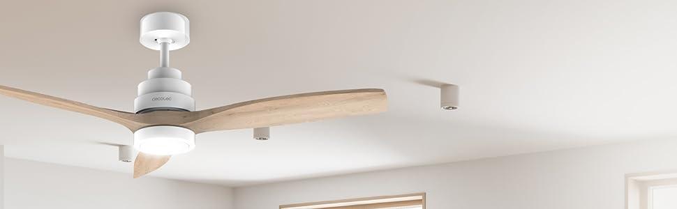 Ventilador de techo, ventilador de techo con motor DC, ventilador 3 aspas, ventilador 6 velocidades
