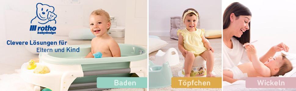 Rotho Babydesign Windeleimer,10l Bella Bambina Perlwei/ß Creme Ab 0 Monate 200210100