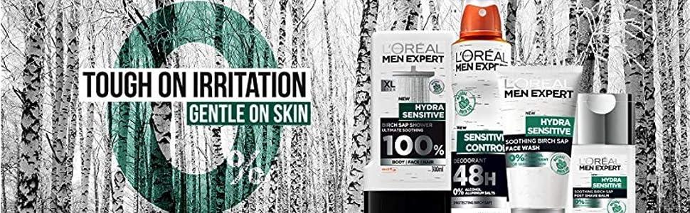 loreal paris men expert hydra sensitive skincare