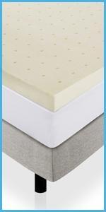 Amazon Com Lucid 3 Inch Ventilated Memory Foam Mattress