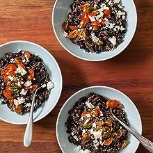 Black Bean and Bulgar Wheat Bowls