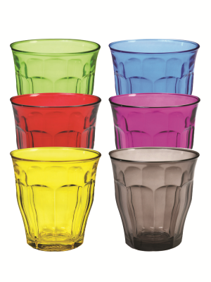 Duralex Color Picardie tumblers - all 6 colors
