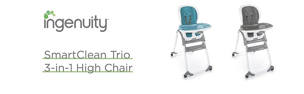 Amazon.com: Ingenuity Silla alta Trio Elite 3-en-1, Azul ...