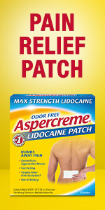 Back patch for pain with lidocaine.