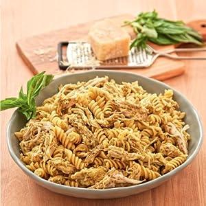pesto, mozzarella, chicken pasta