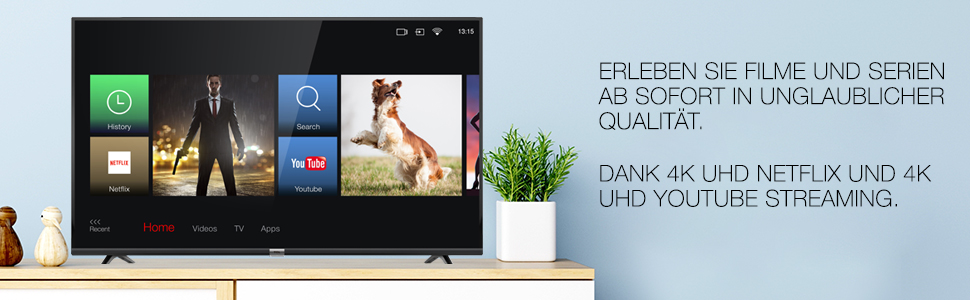 Tcl 55dp602 Fernseher 139 Cm 55 Zoll Smart Tv 4k Uhd Hdr Dolby