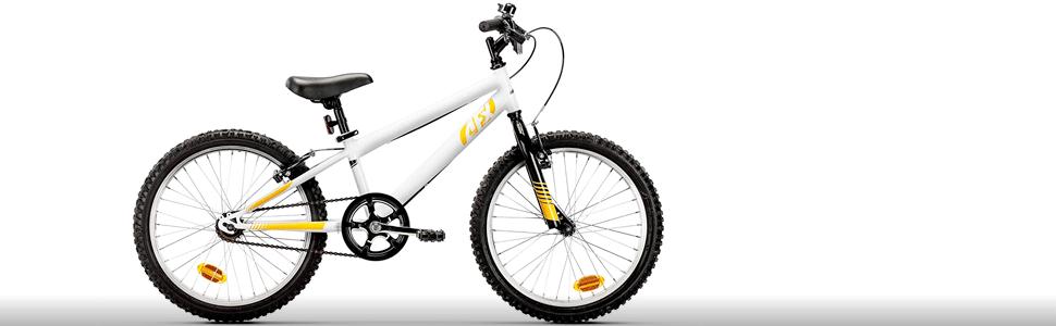 AFX Detroit Bicicleta Infantil, Niños, Blanco, Largo Tubo sillín ...