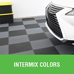 interlocking tile, home gym flooring, modular flooring, checkered floor, garage flooring, tile grid
