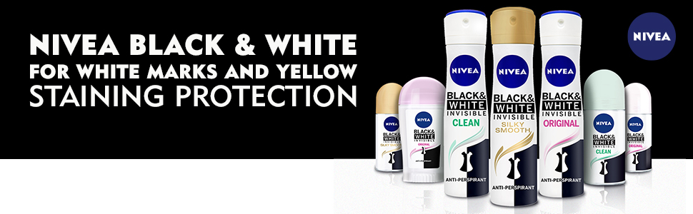 nivea black & white for white marks and yellow staining protection