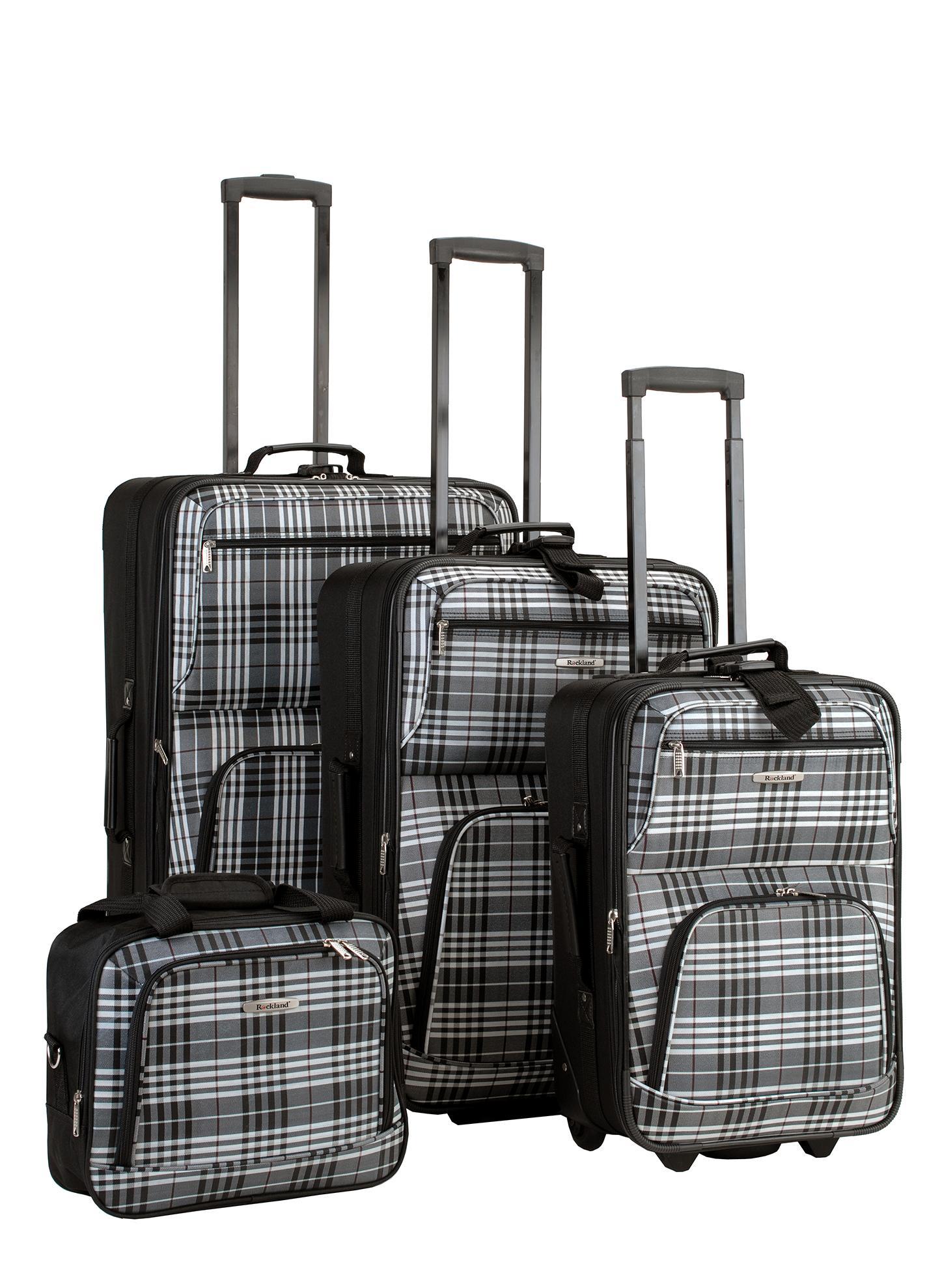 rockland luggage 4 piece luggage set black. Black Bedroom Furniture Sets. Home Design Ideas