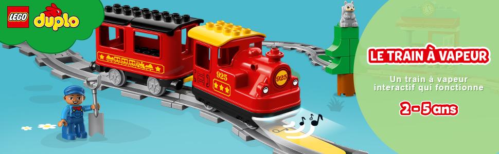 Lego Duplo Chemin de Fer-E-Lok Locomotive//modèle à partir de 2018//Push /& Go//de 10875