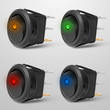 Nilight Round Toggle LED Switch