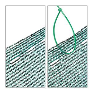 Protecci/ón Solar Rollo de Aislamiento Verde 1,8 x 25 Meter HDPE m Relaxdays Panel de ocultaci/ón de jard/ín